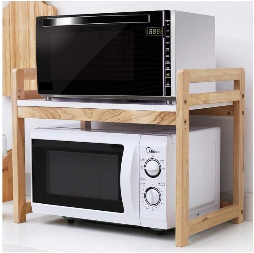 Rack de almacenamiento de cocina Estante de madera maciza Estante de almacenamiento de horno de microondas de 2 niveles Hogar Rack de especias Rack de almacenamiento multifuncional (color : A) : Amazon.es: Hogar