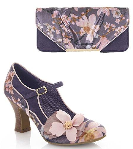 Ruby Shoo Women's Slate Floral Brocade Madelaine Mary Jane Pumps & Matching Bologna Bag UK 5 EU 38 by Ruby Shoo (Image #6)