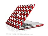 TopCase Chevron Series Black Outline Red Ultra Slim Light Weight Rubberized Hard Case Cover for Macbook Pro 13-inch 13