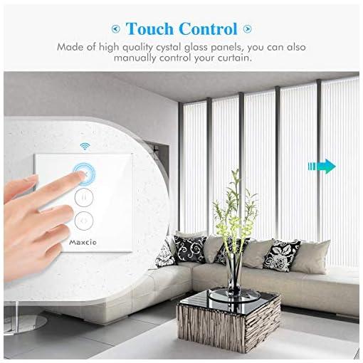 【LED Controlable】Interruptor Persiana WiFi, Maxcio Interruptor WiFi Compatible con Alexa y Google Home, Función de Temporizador, para Motor Persiana, Motor Tubular/Motor de Obturador