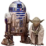 Kotobukiya KSW95 1:10 Scale R2-D2 and Yoda Dagobah Figure (Set of 2)