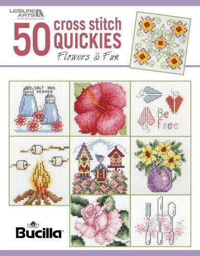 (50 Cross Stitch Quickies Flowers | Cross Stitch | Leisure Arts (6961))
