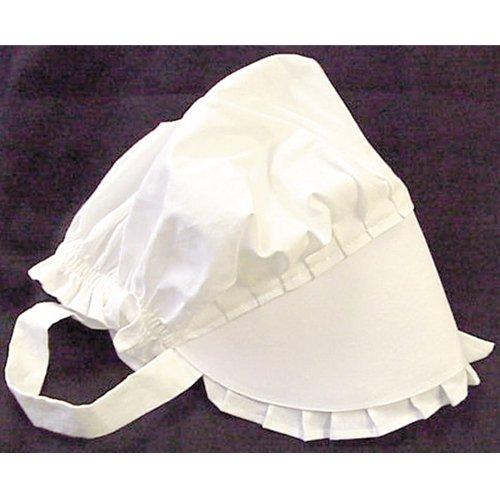 100% White Cotton Prairie Amish Bonnet Small by Americana (Toddler Bo Peep Costume)