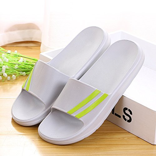ZZHF Summer Home Slippers Men's and Women's Non-Slip Bath Slippers Couple Home Indoor Thick Plastic Slippers (10 Colors Optional) (Size Optional) Slippers (Color : I, Size : 45(44))