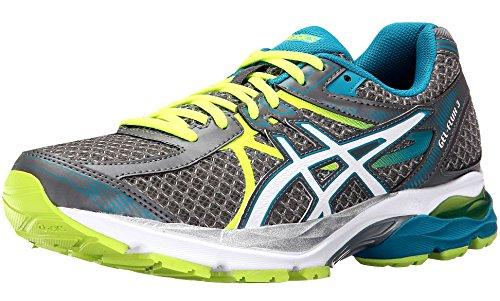 ASICS Women's Gel-Flux 3 Running Shoe, Titanium/White/Enamel Blue, 8.5 D US GEL-Flux 3-W