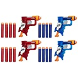 nerf pistol pack - NERF N-Strike Elite Sonic Fire and Ice Jolt Team Pack of Four Blasters