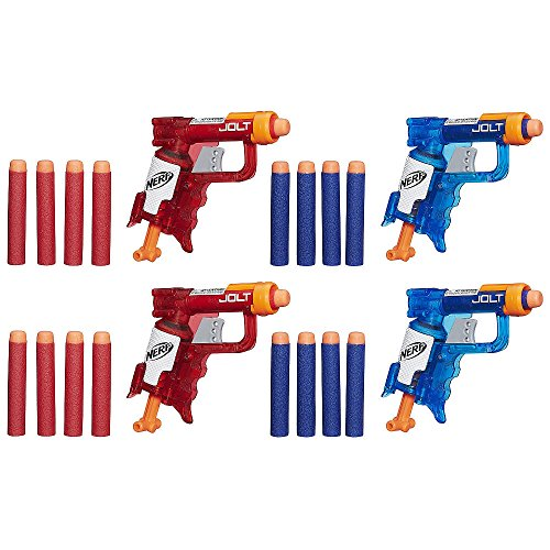 NERF N-Strike Elite Sonic Fire and Ice Jolt Team Pack of Four Blasters (Nerf Guns For Toddlers)