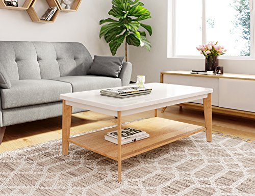 Universal Experts FUTB10010A Remus Coffee Table, Oak and White
