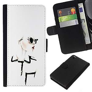 EJOY---La carpeta del tirón la caja de cuero de alta calidad de la PU Caso protector / HTC DESIRE 816 / --Diseñar ropa Chique Glamorous