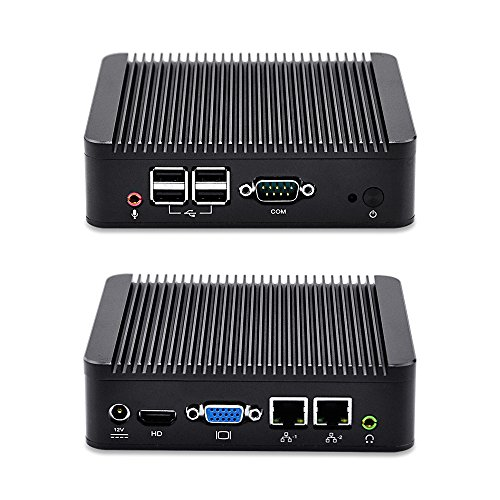 Dual Nics Home Pc Qotom-Q107S Intel Celeron 1007U,1.5Ghz, 8G Ram 32G Ssd with WiFi Aluminum Alloy Shell Dual LAN,4Usb,Windows Xp