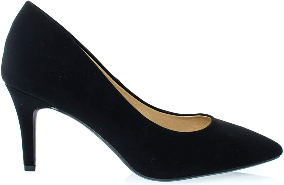 City Classified Comfort Medium High Heel Pointy Toe PumpSuper Cushioned Memor.