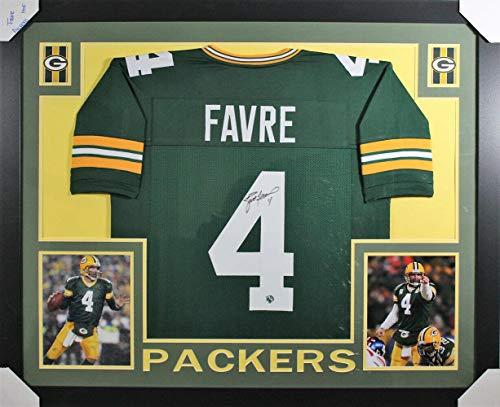 Brett Favre Signed Jersey - Framed XL 20166 - Autographed NFL Jerseys