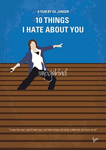 Wall Art Print entitled No850 My 10 Things I Hate About You