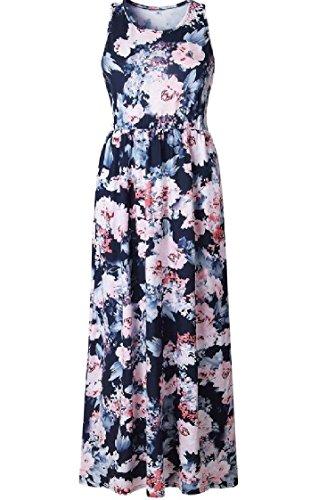 Coolred-femmes Grande Vêtements De Plage Impression De Base Sans Manches Ourlet Floral Robe 3