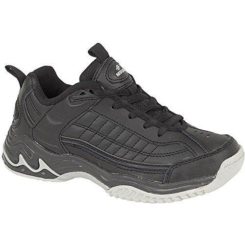 Lace Up Mirak Contender Black Unisex Leather 34 Textile Mirak by Shoes Rubber Trainer tqwHq4EC