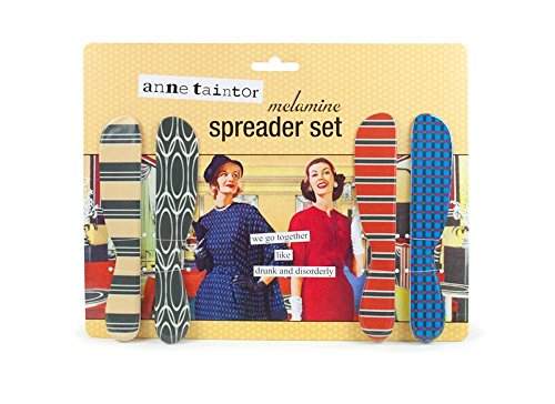 Anne Taintor Cheese Butter Spreader Set - We Go Together Like Drunk And Disorderly]()