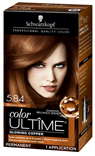 Schwarzkopf Color Ultime Hair Color Cream, 5.84 Chocolate Copper (Packaging May - Copper Chocolates