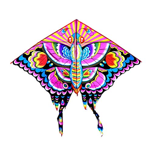 B&MF Outdoor Kites, Butterfly Shape Portable Travel Kite Park Colorful Child Toy Flying Toy Kite, 160 150CM