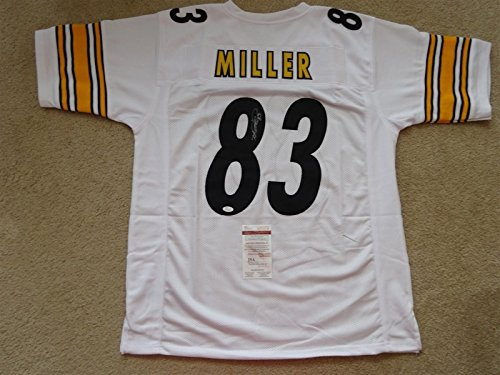 HEATH MILLER SIGNED AUTO PITTSBURGH STEELERS WHITE JERSEY JSA AUTOGRAPHED ()