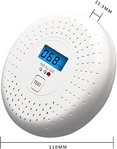Carbon Monoxide Detector Battery Operated, Co Alarm Detector with LCD Display