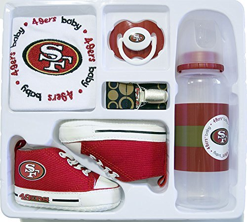 Baby Essentials NFL 5 Piece Newborn Infant Gift Box Set (San Francisco 49ers) (Francisco Bottle Jersey San Giants)