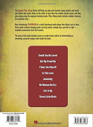 Amazon Bob Marley Ukulele Play Along Volume 26 Bookcd