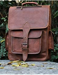 HLC LEATHER HANDMADE VINTAGE STYLE BACKPACK/ COLLAGE/ CABIN