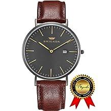 BRIGADA Swiss Watches for Men Women, Minimalist Waterproof Quartz Men's Women's Watch, Great Gift for Someone or Yourself