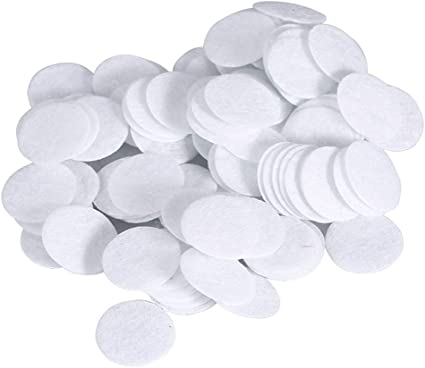 Los filtros de algodón, 100 piezas nuevo algodón filtro redondo de ...