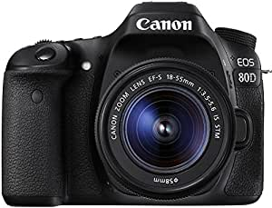 Canon EOS 80D Single Kit with EFS 18-55mm f 3.5-5.6 IS STM Digital Camera - SLR(80DKIS) 3Inch Display,Black (Australian warranty)