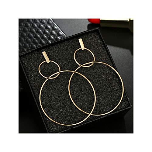 - Double Circle Hoop Dangle Earrings Infinity Love Lucky 8 Shaped Hollow Big Hoop Drop Earring Stud for Women Girls