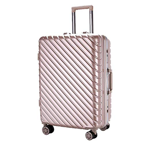 LBSX Luggage,Waterproof Portable Expandable Scratch-Proof Universal Wheel Travel Bag PC Business Boarding Luggage,Business,20inch,Rose Gold (Color : Champagne Gold.)