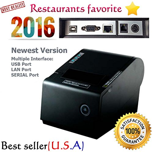 PBM POS P-822D 3 1/8'' Thermal Receipt USB Port SERIAL Port LAN Enternet Network Port Printer Auto Cut 2016 Newest Version Multiple Interface by Cyberlandusa
