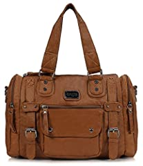 The Scarleton Soft Barrel Shoulder Bag is a stylish bag for all seasons. This functional purse is well equipped with lots organized storage, plenty of room for your cell phone, wallet, makeup and toiletries with more than enough space for vir...
