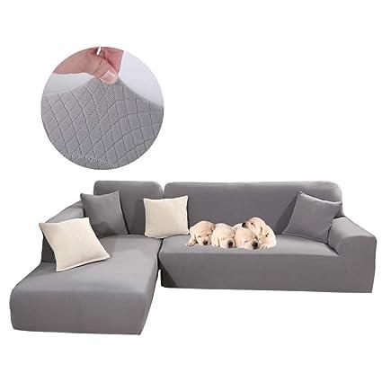 Amazon.com: Taiyucover 2PCS Jacquard L shape Sofa Covers ...
