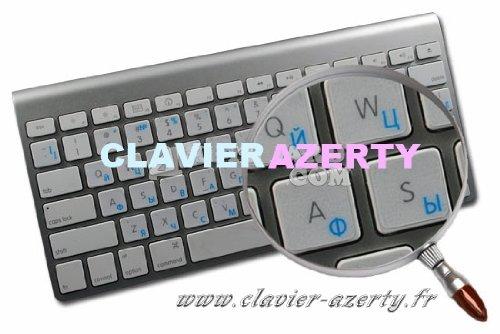 Sticker adesivo trasparente per tastiera Mac in Russo
