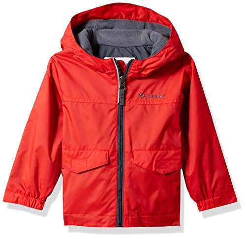 Columbia Toddler Boys' Rain-Zilla Jacket, Bright Red, 4T