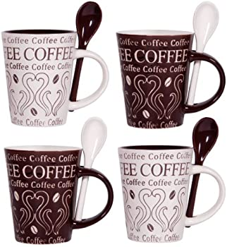 4 Pc. Home Essentials Coffee and Swirl 10oz Mug & Spoon