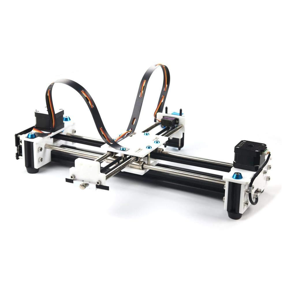 HUKOER Plotter Schreibroboter XY Plotter Handschreibroboter Kit Auto Zeichnung Schreibroboter Plotter Humanoide Handschrift Kompatibel mit 2500mW Lasergravur