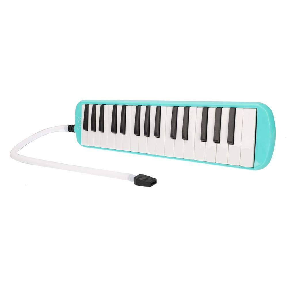 32-Key Melodica with Mouthpiece & Hose & Bag Green
