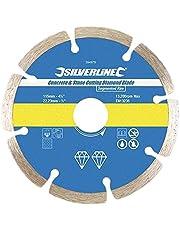 Silverline 633624 Lame diamantée à tronçonner le béton et la pierre 125 x 22,3 mm