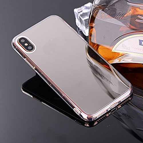 Cover A Specchio.Mirror Case For Iphone X Ultra Slim Tpu Mirror Cover For Iphone X Leecase Bright Reflection Radiant Stylish Luxury Silicone Shinny Bling Mirror Back