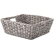 Whitmor Split Rattique Shelf Tote Gray Wash