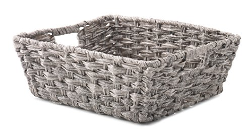 Whitmor Split Rattique Shelf Tote-Gray Wash, ()