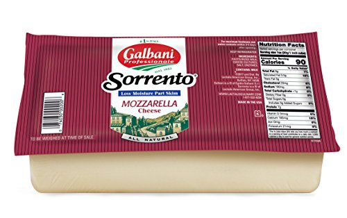 Galbani Low Moisture Part Skim Mozzarella Cheese Block 5 lb--Pack of 8 by Galbani (Image #1)