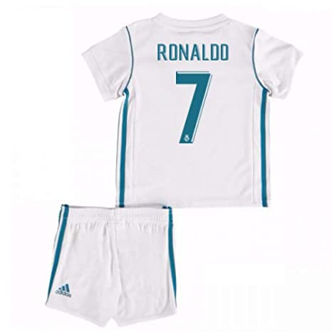 official photos bfd4e 80c7c UKSoccershop 2017-18 Real Madrid Home Baby Kit (Cristiano ...