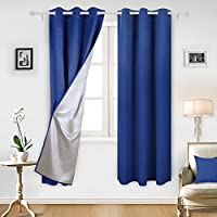 Deconovo Decorative Blackout Curtains with Silver Backing...