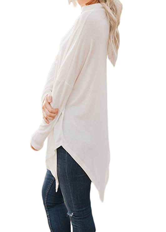 9b9b2174a2c5 Shawhuwa Womens Oversized Fleece Poncho High Neck Sweater Tops Knitwear at  Amazon Women s Clothing store