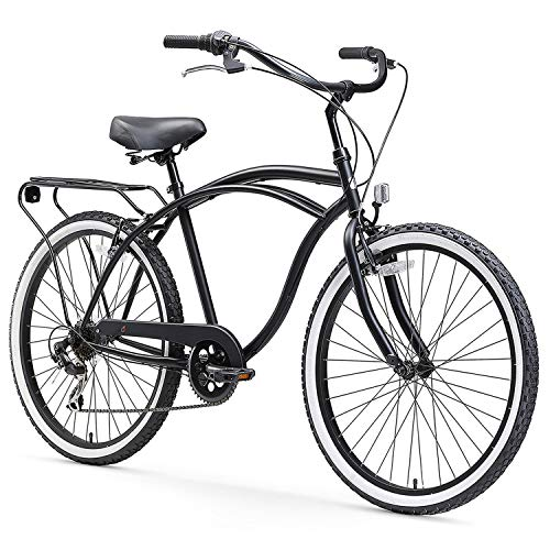 sixthreezero Around The Block Men's 7-Speed Beach Cruiser Bicycle, 24