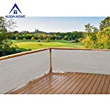 Alion Home Elegant Windscreen Privacy Screen For Deck, Pool, Railing, Backyard Deck, Patio, Fence, Porch - Smoke (3' x 8')